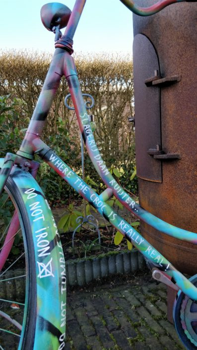 Detail of a bike that could do with a fresh paintjob